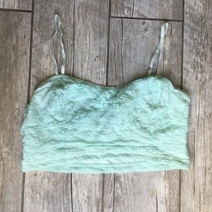 frenchi - Mint Green Lace Bandeau Size S